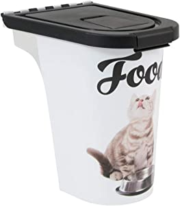 Paw Prints Plastic Pet Food Bin