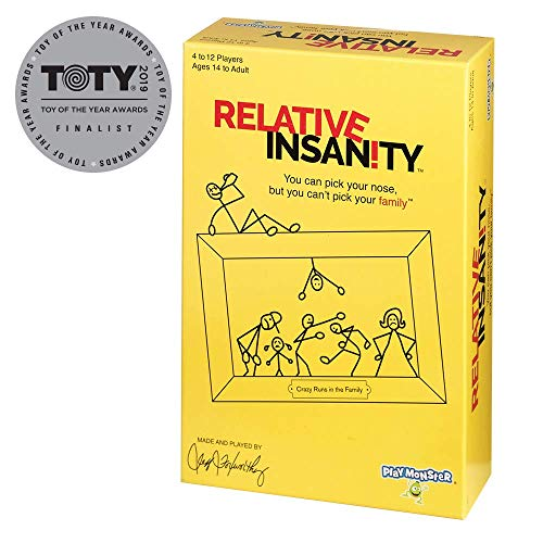 Relative Insanity Party Game About Crazy Relatives -