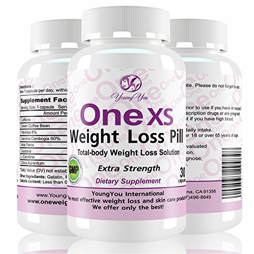 One XS Weight Loss Diet Pills Pharmaceutical Grade Weight Loss Supplement. Appetite Suppressant Fat Burner. Extra Strength. 60 Diet Pills. 2 Month Weight Loss. by YoungYou International