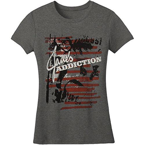 Janes Addiction Erotica Girls Jr Small Heather Charcoal