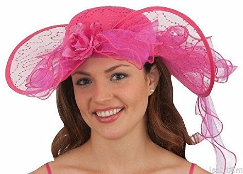 26649 Fuchsia Southern Belle Costume Hat -