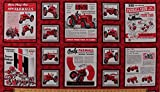 "23.5"" X 44"" Panel Farmall Show Tractors International Harvester Vintage Ads Advertisements Catalogs Posters Agriculture Red Cotton Fabric Panel (1649-26451-R)"