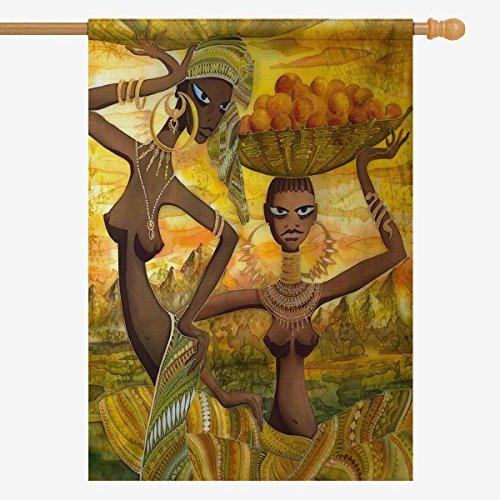 InterestPrint Naked African Girls, Vintage Afro American Wom