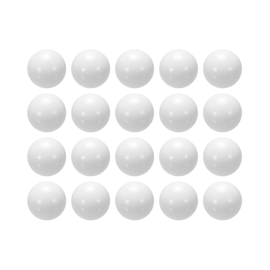 sourcing map Bola para hacer anillo de moneda de POM de 7mm, Bola de rodamiento de plástico 20unidades