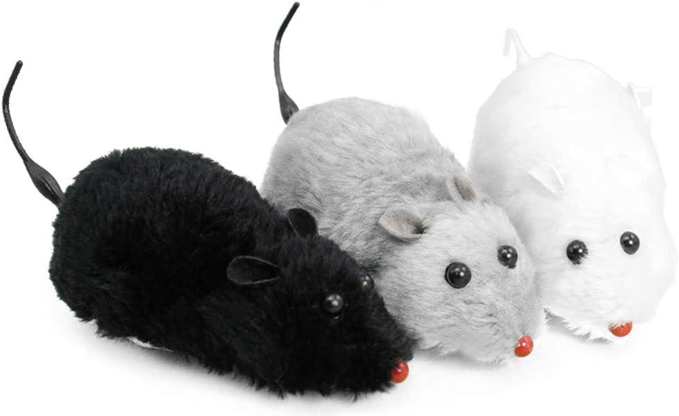 com-four® 3X ratón de Juguete para Gatos - Ratones para Gatos - ratón para Jugar - ratón eléctrico - 18,5 cm - (¡la selección de Colores varía!)