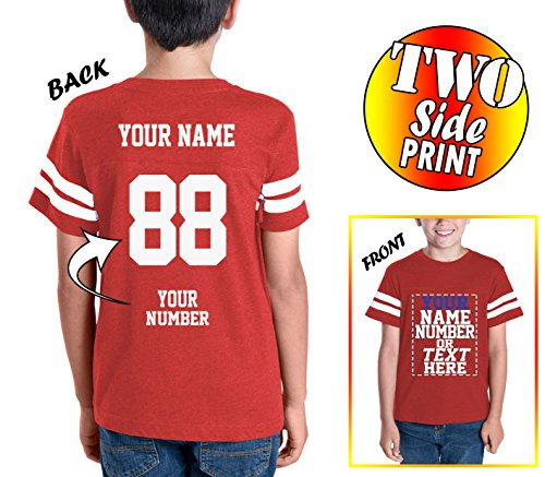 (Custom Cotton Jerseys for Youth and Teens - Make Your OWN Jersey T Shirts - Personalized Team Uniforms for Casual Outfit)