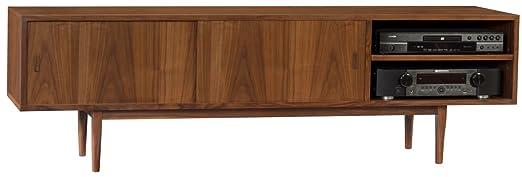 amazoncom elite one walnut mid century modern credenza kitchen u0026 dining - Modern Credenza