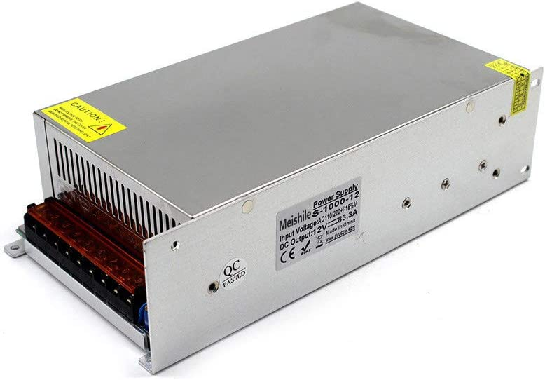MEISHILE DC 12V 83.3A 1000W Fuente Alimentacion Transformador Interruptor 110/220V AC to DC 12V 1000 Watt Fuente de Alimentación Conmutada Convertidor De Voltaje