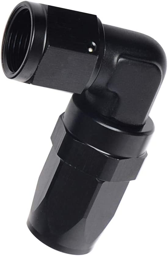 10 BLK 10 AN Male To AN Female 90 Degree S wivel Adapter Full Flow Fitting