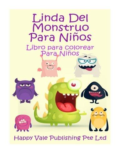 Linda Del Monstruo Para Niños Libro Para Colorear Para