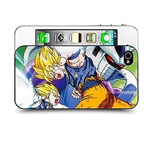 Case88 Designs Dragon Ball Z GT AF Son Gohan Super Saiyan Goku & Vegeta VS Kooler Protective Snap-on Hard Back Case Cover for Apple Iphone 4 4s by Maris's Diary