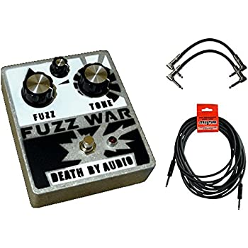 Death by Audio Fuzz War Pedal w/ 3 Cables