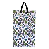 wet bag ecoable - Large Hanging Wet Dry Bag for Baby Cloth Diapers or Laundry (Owl)