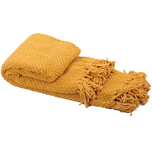 Home Soft Things Knitted Tweed Throw Couch Cover Blanket, 50