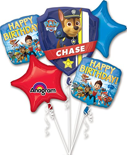 Anagram International Paw Patrol Birthday Bouquet, Multicolor -