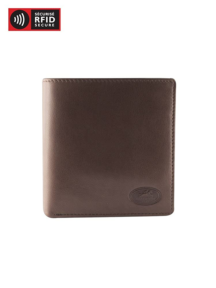 Mancini RFID Secure Mens Hipster Leather Wallet