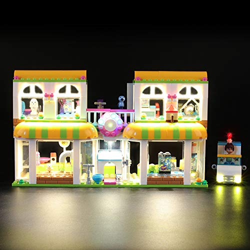 Juego de luces LIGHTAILING para bloques de construcción modelo (Centro de mascotas Friends Heartlake City) - Kit de luces LED Compatible con Lego 41345 (NO incluido el modelo)