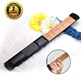 OIBTECH Pocket Guitar,6 Fret Strings Portable Guitar Practice Tool Gadget with Tuning Tool For Beginner Fingering Chord Trainer
