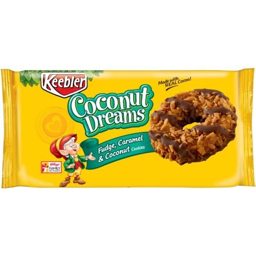 Keebler Coconut Dreams Fudge Caramel and Coconut Cookie, 8.5 Ounce - 12 per case.