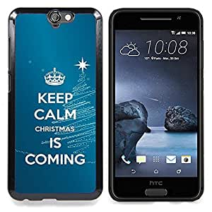 Calm Keep Coming Blue Christmas Blue Caja protectora de pl??stico duro Dise?¡Àado King Case For HTC ONE A9