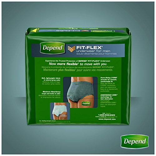 Depend FIT-FLEX Incontinence Underwear for Men, Maximum Absorbency, S/M, Gray, 60 Count by Depend (Image #11)