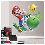 Super Mario Galaxy Mario & Yoshi Giant Wall Decal