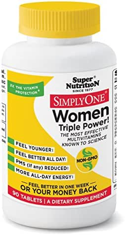 SimplyOne Multivitamin for Women, Daily All-in-One Vitamin by SuperNutrition, 90 Day Supply; Best Value Pack