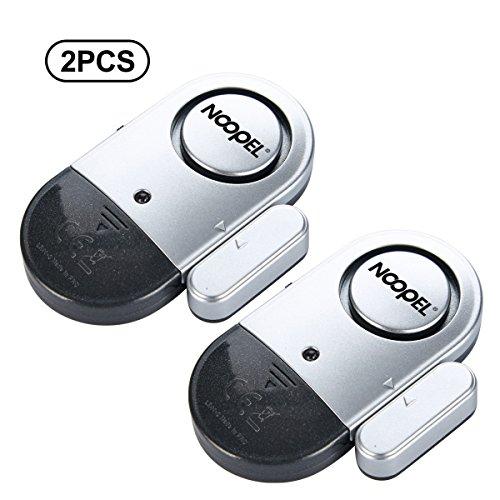 Door Window Alarm 2 Pack Noopel Home Security Wireless Magnetic Sensor Burglar Anti-theft 130DB Alarm with Batteries included - DIY Easy to Install (Window Security Alert)