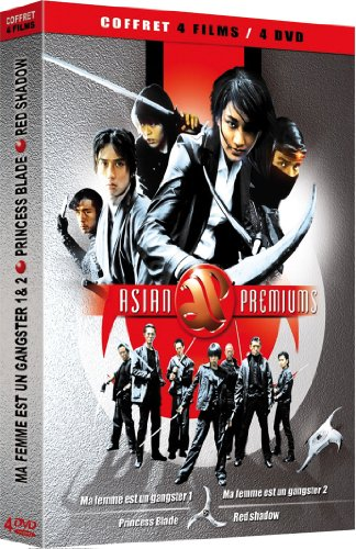 Coffret Asian Premiums 4 DVD - Action : Ma Femme est un Gangster / Ma Femme est un Gangster 2 / Princess Blade / Red Shadow