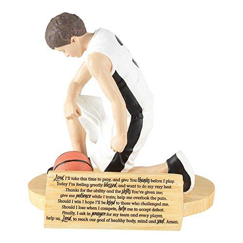 Hear Our Prayer Kneeling Basketball Player 5 x 5.5 Resin Stone Tabletop Figurine