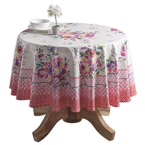 - Maison d' Hermine Rose Garden 100% Cotton Tablecloth 63 Inch Round
