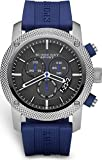 B u r b e r r y Sport Chronograph Black Dial Blue Rubber Mens Watch BU7711