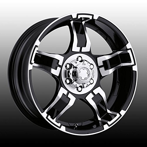Ultra Drifter 15 Black Wheel / Rim 5x4.5 with a -19mm Offset and a 82 Hub Bore. Partnumber 194-5865B (1999 Ford Explorer Rims compare prices)