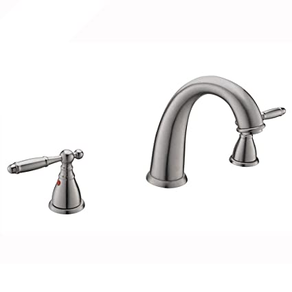 Kingo Home Commercial Durable Two Handles Three Holes Brushed Nickel