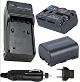 Battery (2-Pack) and Charger Sony CCD-TRV408 CCD-TRV608 Hi8 CCD-TRV118 Handycam Camcorder