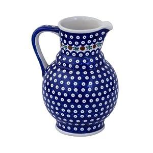 Boleslawiec Pottery Milk and water jug, 1.75L, Original Bunzlauer Keramik, Decor 41