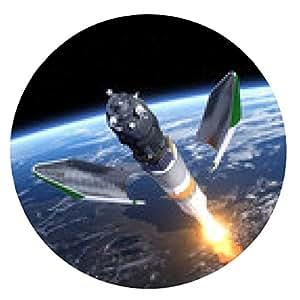 """alfombrilla de ratón Lanzamiento de la nave espacial de carga """"Progress"""" - ronda - 20cm"""