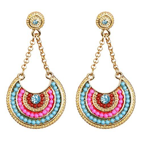Vibrant Multicolor Dangle Earrings (Homemade Indian Boy Costumes)