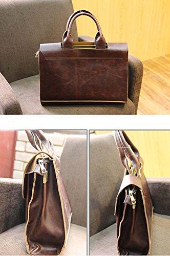 Verrückte Pferd Leder Handtasche Herren Tasche Schultertasche Messenger Bag Computer Bag 8EbeQp