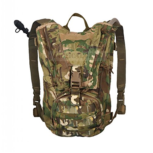 ZAPT Tactical Molle Hydration Pack Military Hydration Backpack Hiking Hunting Airsoft Hydration Carrier with 3l Water Storage Bladder Bag (Multicam) For Sale