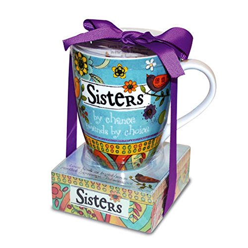 Sasha Mug - Divinity Boutique 23777 Ceramic Mug and Memo Pad Sister, Multicolor