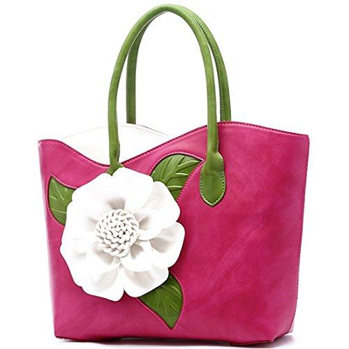 Fleur À rouge Kaxidy Messager Mariage Partie Porté Sac Bandoulière Épaule De Main Rose q5tA7t
