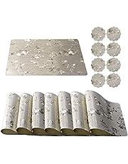 Qualsen Bordstabletter torka rent PVC kök matbord mattor tvättbara bordsunderlägg