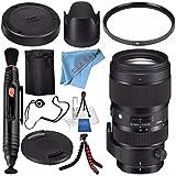 Sigma 50-100mm f/1.8 DC HSM Art Lens for Canon EF #693954 + 82mm UV Filter + Lens Pen Cleaner + Fibercloth + Lens Capkeeper + Deluxe Cleaning Kit + Flexible Tripod Bundle