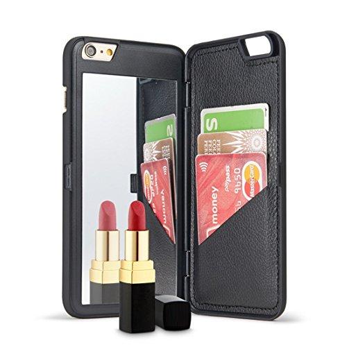 見落とす間薬局iphone6/6Sプラス アイフォン6/6Sケース 財布型 カード収納 化粧鏡 ハンドミラー【 ASHONNEY】 携帯ケース iphone6 Plus ケース iphone 6S Plus ケース スタンド機能 人気 おしゃれ シンプル スマホ カバー
