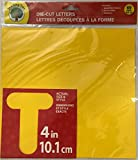 #7: Die-Cut Letters Uppercase Numbers Punctuation 69 Pack 4in 10.1cm (Yellow)