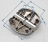 Flyshop Toilet Stainless Steel Lift Off Hinge Right Handedness Silver Oval Shape