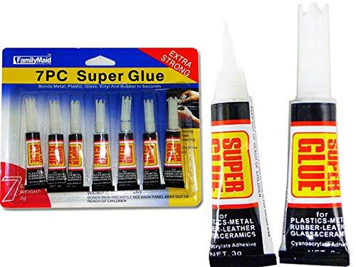 GLUES 7PCS SUPER GLUES(2G) NEW NO 16534 , Case of 144