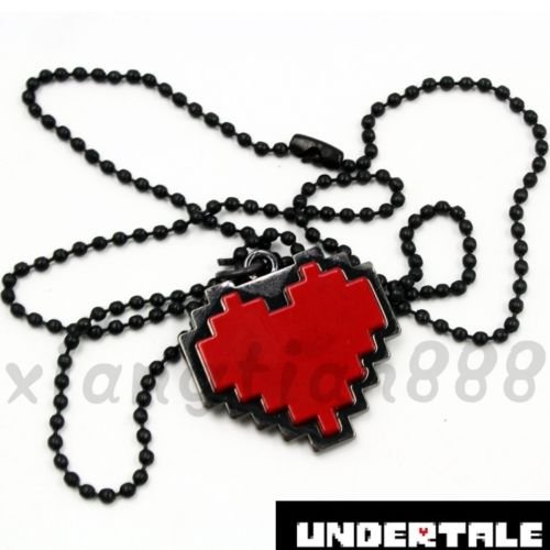 1PCS Anime Undertale Red Heart Necklace Pendant Cosplay Costume (Guy In Squirrel Costume)