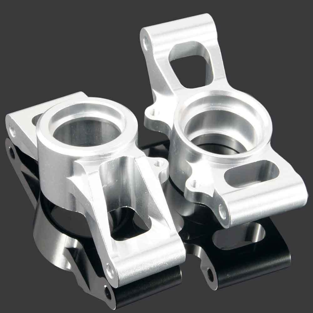 Toyoutdoorparts RC TRA 7752 Upgrade Red Alum Rear Carriers Stub Axle L/R for Traxxas X-MAXX by Toyoutdoorparts (Image #4)